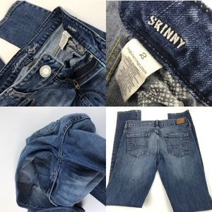 American Eagle Outfitters Jeans - American Eagle Skinny Jeans Distressed 2 Stretch